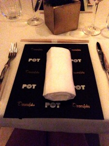 Lovely place setting for an elegantly indulgent evening!