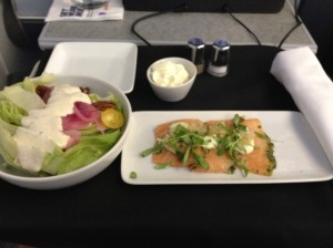 AA130 ORD to HEL: 1 Dinner Starter